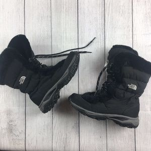 The North Face black fur lined boots size 9